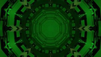 Abstract spherical 3d illustration of green repeating ornamental circles photo