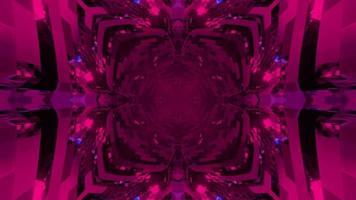 Futuristic 3d illustration of purple square with ornamental corners photo