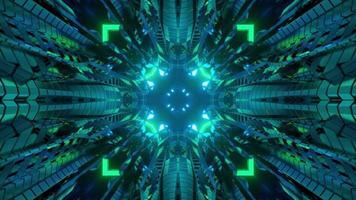 Futuristic technology design with neon illumination 3d illustration photo