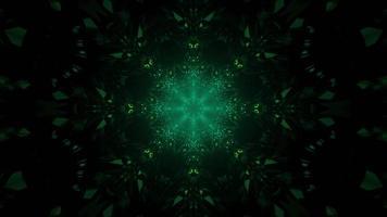 3D illustration of dark green ornament photo