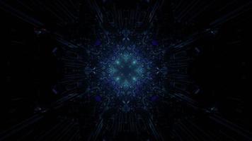 3d illustration of dark geometric corridor photo