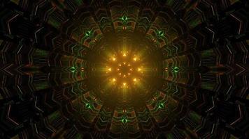 Ilustración 3d del laberinto de neón brillante foto