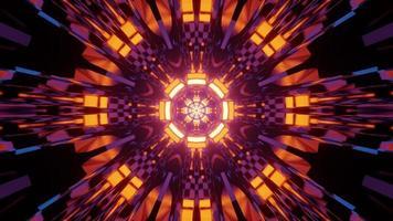 ornamento circular abstracto con efectos de luz ilustración 3d foto