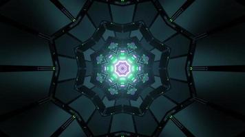 Abstracción de adornos geométricos en laberinto en ilustración 3d foto
