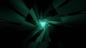figuras geométricas brillantes nítidas en la ilustración 3d foto