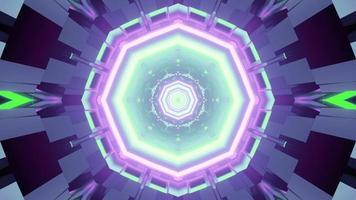 Fondo abstracto futurista con patrón de neón en la ilustración 3d foto