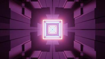Interior of futuristic corridor with gleaming lights 3d illustration photo
