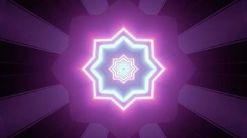 Fluorescent star shaped pattern 3d illustration photo