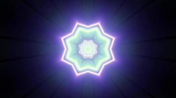 Ilustración 3d de patrón floral de neón abstracto foto
