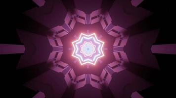 diseño geométrico futurista de fantástico túnel ilustración 3d foto