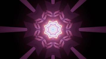 Crystal shaped ornament on sci fi gateway 3d illustration photo