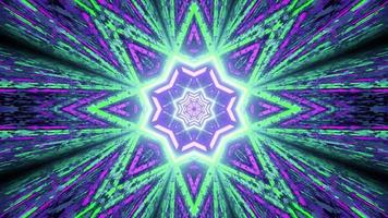 Abstract background with neon star shaped ornament 3d illustration photo