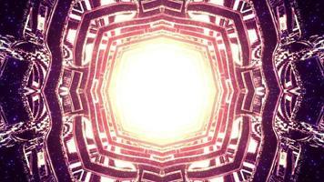 Geometric ornament with shiny light 3d illustration photo