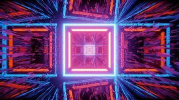 Fondo geométrico abstracto con rastros de luces de neón ilustración 3d foto