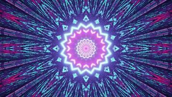 3D illustration of multicolored kaleidoscope pattern photo