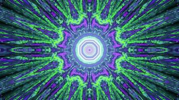 3D illustration of fractal abstract ornament as background photo