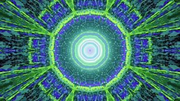 3D illustration of illuminated fractal abstraction in tunnel photo
