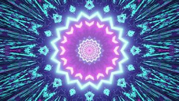 Abstract geometric background with glowing rays in 3D illustration photo