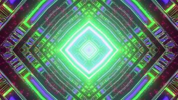 3D illustration of fractal rhombus pattern photo