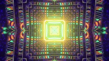 Abstract colorful multistage labyrinth in 3D illustration photo