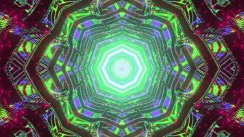 Ilustración 3d de laberinto ornamental con patrón de caleidoscopio foto