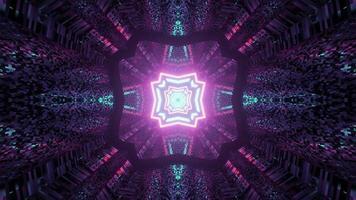 Fondo abstracto futurista en ilustración 3d foto
