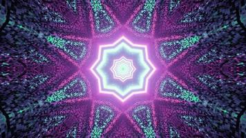 Abstract textured pattern with neon lights in 3D illustration photo