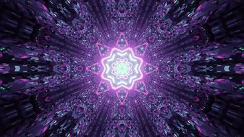 3d illustration of purple glowing corridor photo