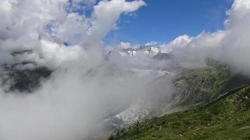 time-lapse bekijken de grote aletschgletsjer in nationaal park zwitserland