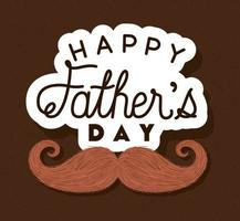 Fathers day celebration banner with mustache vector design