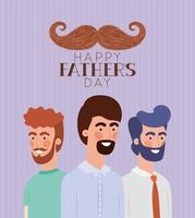 Fathers day celebration banner with men vector