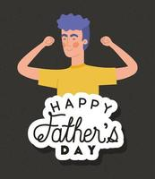 Fathers day celebration banner with man vector