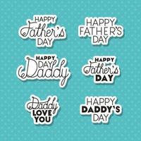 banner de celebración del día del padre con conjunto de letras vector