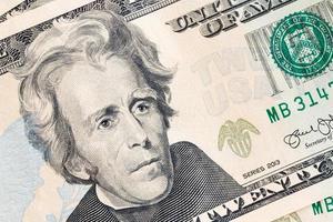 Billete de dólar americano, concepto comercial y bancario