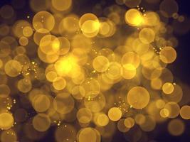 Bolas de bokeh doradas fuera de foco foto