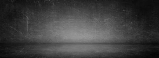 Estudio de cemento gris y negro y fondo de sala de exhibición para exhibición o presentación de productos foto