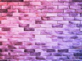 Pared de ladrillos de colores para el fondo o la textura foto