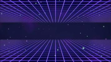 movimento retro linhas azuis fundo abstrato video