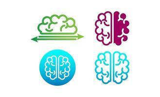brain concept logo set template vector illustration and inspiration
