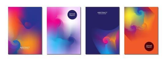 Página de portada Fondo abstracto a todo color para el informe anual Diseño de plantilla de folleto de banner de portada vector