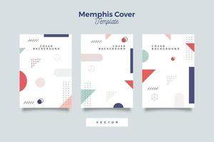 Set of abstract geometric cover design templates vector