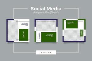 plantilla de publicación de redes sociales de marketing de marca digital vector