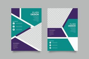 Abstract medical green flyer template