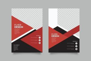 Abstract marketing geometric flyer template vector