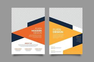 Abstract business yellow geometric flyer template vector