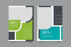 Abstract promotion geometric flyer template vector