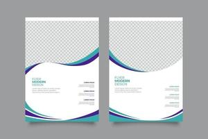 plantilla de volante de negocios geométrica azul minimalista vector