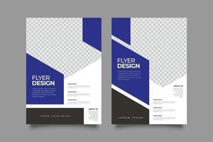 Modern future geometric business flyer template vector