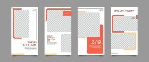 Sale posts and stories template vector