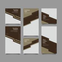 business posts template set vector